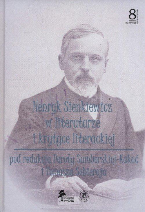 Henryk Sienkiewicz w literaturze - okładka książki