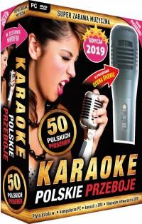 Karaoke Polskie Przeboje edycja 2019 - z mikrofonem PC-DVD - pudełko programu