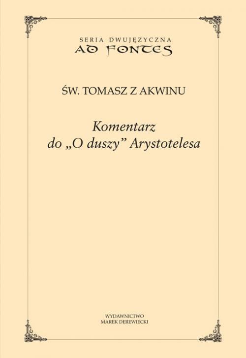 Komentarz do O duszy Arystotelesa. - okładka książki
