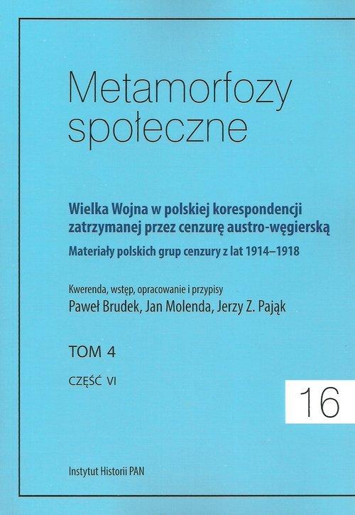 Metamorfozy społeczne 16. Wielka - okładka książki