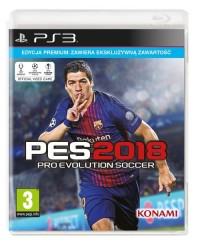 PES 2018 Premium PS3 - pudełko programu