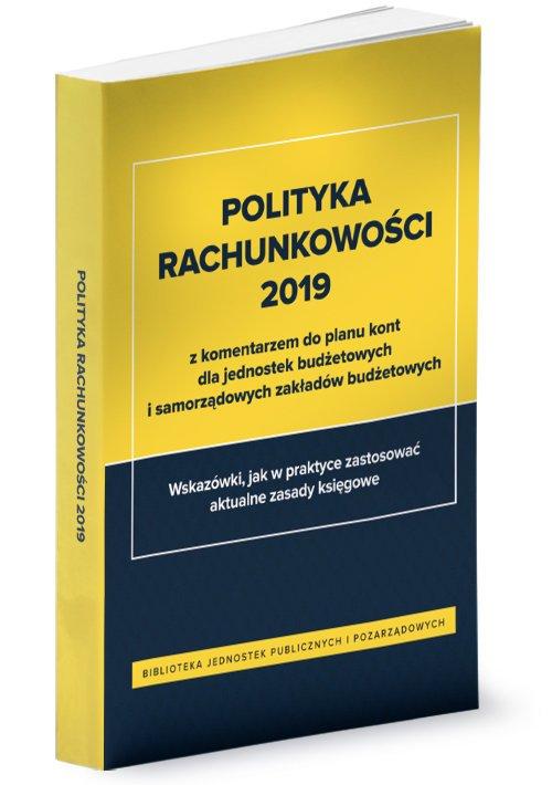 Polityka rachunkowości 2019 z komentarzem - okładka książki