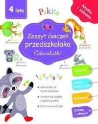 Zeszyt ćwiczeń przedszkolaka. Czterolatki - okładka podręcznika