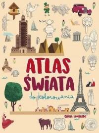 Atlas świata do kolorowania - okładka książki