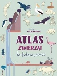 Atlas zwierząt do kolorowania - okładka książki