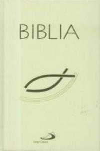 Biblia z rybką biała - okładka książki