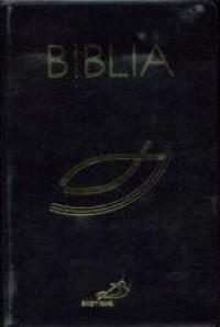 Biblia z rybką z suwakiem - czarna - okładka książki