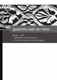 Quaestiones Medii Aevi Novae. Vol. 22/2017. Medieval Scandinavia, Culture savante et politique - okładka książki