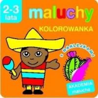 Akademia Malucha. Kolorowanka z naklejkami - okładka książki