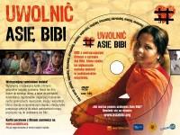 Akcja: Uwolnić Asię Bibi. Kartka pocztowa z filmem DVD - pakiet 5 sztuk - okładka filmu