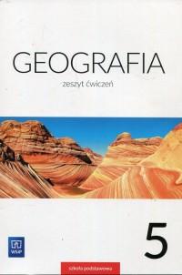 Geografia 5. Szkoła podstawowa. Zeszyt ćwiczeń - okładka podręcznika