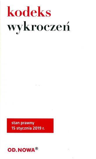 Kodeks Wykroczeń 2019 - okładka książki