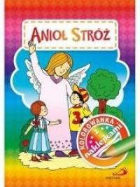 Kolorowanka z naklejkami. Anioł Stróż - okładka książki