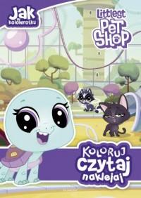 Littlest Pet Shop. Koloruj, czytaj, naklejaj - okładka książki