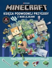 Minecraft. Księga podwodnej przygody z naklejkami - okładka książki