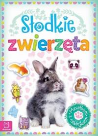 Minialbum z naklejkami. Słodkie zwierzęta - okładka książki