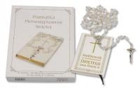 Modlitewnik za wstawiennictwem świętego Jana Pawła II i różaniec pierwszokomunijny. Pamiątka Pierwszej Komunii Świętej - okładka książki