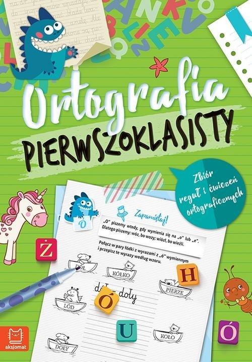 Ortografia pierwszoklasisty - okładka podręcznika