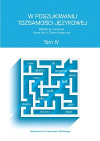 W poszukiwaniu tożsamości językowej. - okładka książki