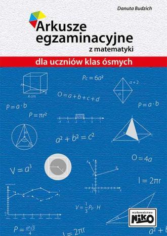Arkusze egzaminacyjne z matematyki - okładka podręcznika