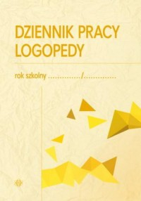 Dziennik pracy logopedy - okładka książki