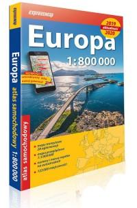 Europa atlas samochodowy 1:800 000 - okładka książki