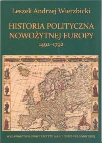 Historia polityczna nowożytnej Europy 1492-1792 - okładka książki