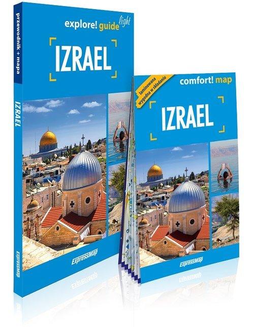 Izrael light przewodnik + mapa. - okładka książki