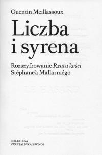 Liczba i syrena. Rozszyfrowanie Rzutu kości Stéphane a Mallarmégo - okładka książki