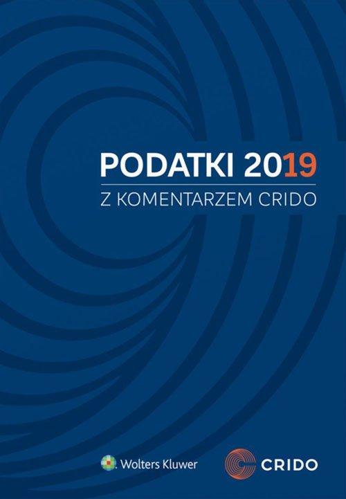Podatki 2019 z komentarzem Crido - okładka książki