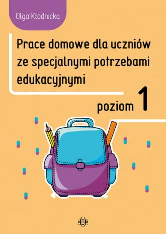 Prace domowe dla uczniów ze specjalnymi - okładka książki