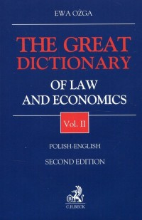 The Great Dictionary of Law and Economics 2 Polish - English - okładka książki