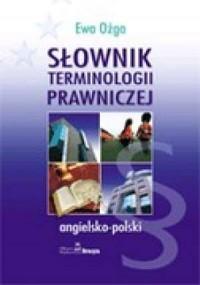 Słownik terminologii prawniczej angielsko-polski - okładka książki