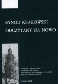 Synod krakowski odczytany na nowo - okładka książki