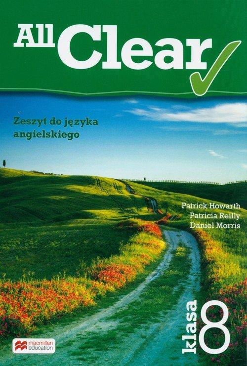 All Clear 8 Zeszyt do języka angielskiego - okładka podręcznika