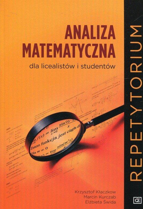 Analiza matematyczna dla licealistów - okładka podręcznika