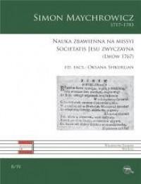 Nauka zbawienna na missyi Societatis Jesu zwycz. - okładka książki