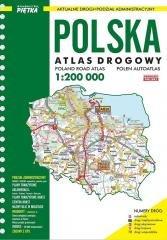 Atlas Polski 1:200 000 drogowy - okładka książki