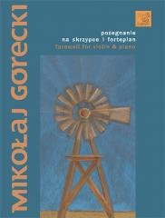 Pożegnanie na skrzypce i fortepian - okładka podręcznika