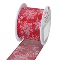 Wstążka 2mx40mm Gwiazdy czerwona - zdjęcie produktu
