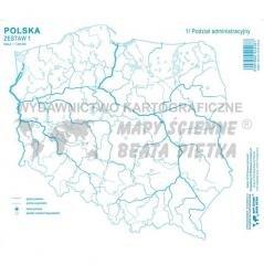 Zestaw I. Polska mapa konturowa - okładka podręcznika