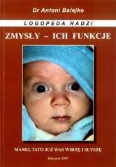Zmysly i ich funkcje - rozwój mowy - okładka książki