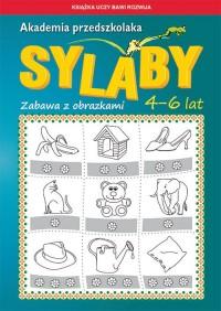 Akademia przedszkolaka Sylaby. Zabawa z obrazkami. 4-6 lat - okładka podręcznika