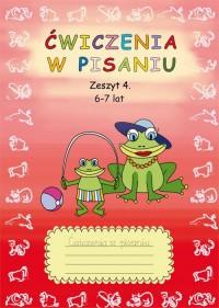 Ćwiczenia w pisaniu. Zeszyt 4. 6-7 lat - okładka podręcznika