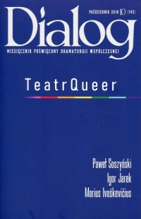 Dialog 2018/10 Teatr Queer - okładka książki