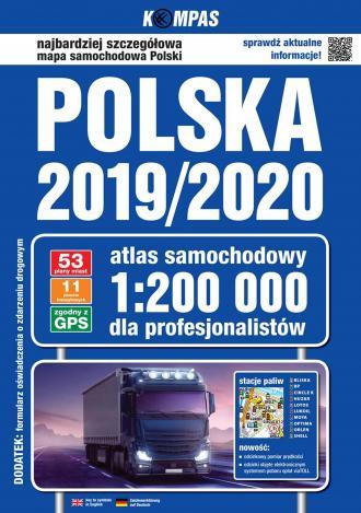 Polska 2019/2020 Atlas samochodowy - okładka książki