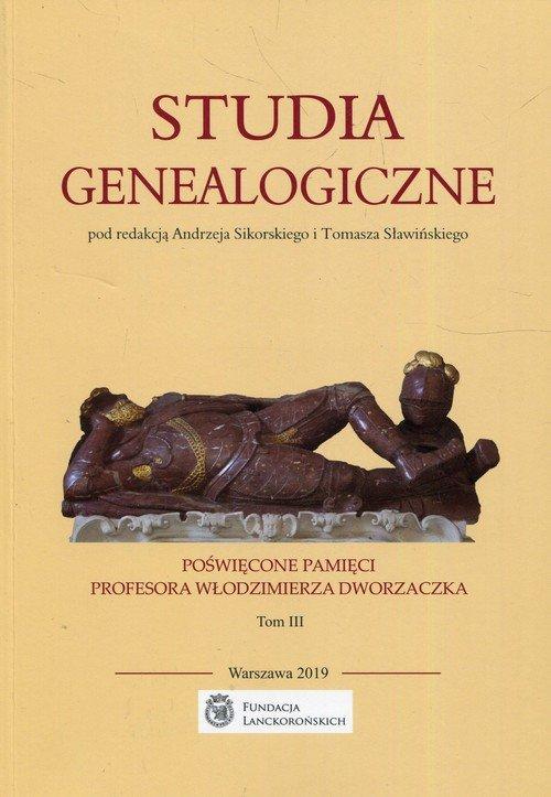 Studia genealogiczne poświęcone - okładka książki
