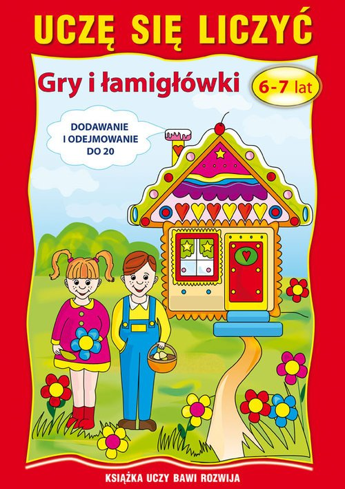 Uczę się liczyć Gry i łamigłówki - okładka podręcznika