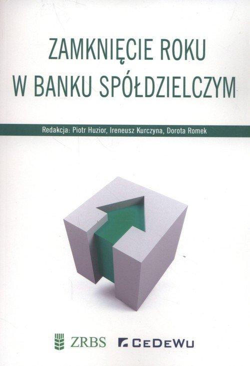 Zamknięcie roku w banku spółdzielczym - okładka książki