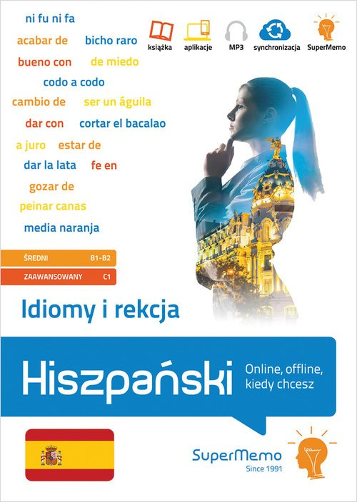 Idiomy i rekcja Hiszpański.. (poziom - okładka podręcznika
